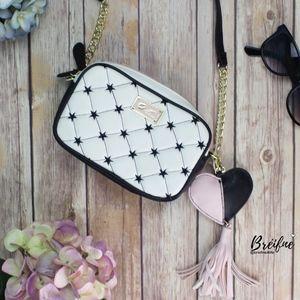 Betsey Johnson Tassel heart purse